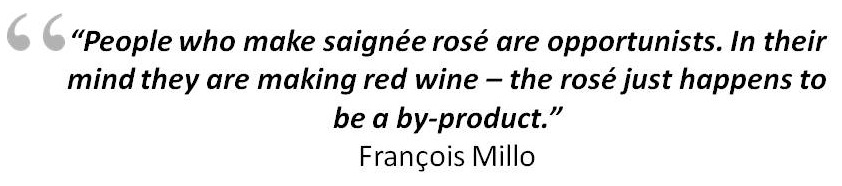 People who make saignée rosé are opportunists