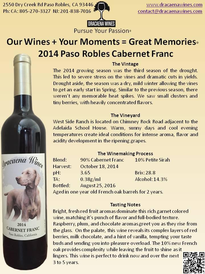 Dracaena Wines Cabernet Franc